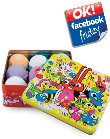 We also gave away THREE Jon Burgerman Bathtime Favourites tins from Lush!