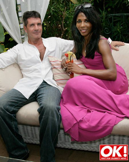 Simon Cowell, with Sinitta, says they thought Cheryl Cole had a hangover (Pic: Abi Wyles/OK)