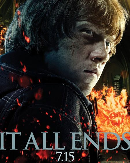 Ron Weasley manages to look menacing in his Harry Potter and The Deathly Hallows poster
