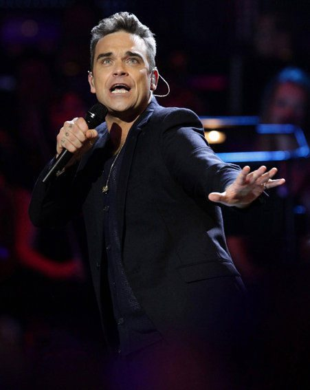 Robbie has been in the recording studio with Take That