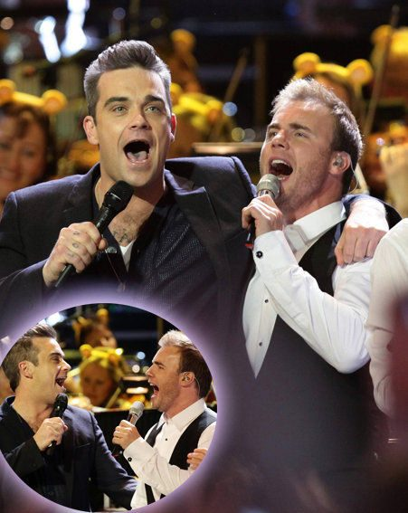 Robbie and Gary took to the stage together