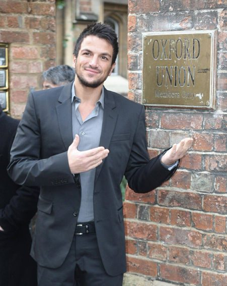 Peter Andre arrives at the Oxford Union