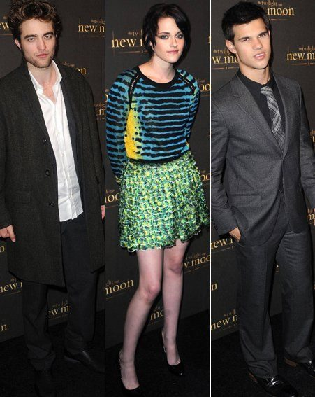 Robert Pattinson/Kristen Stewart/Taylor Lautner last night