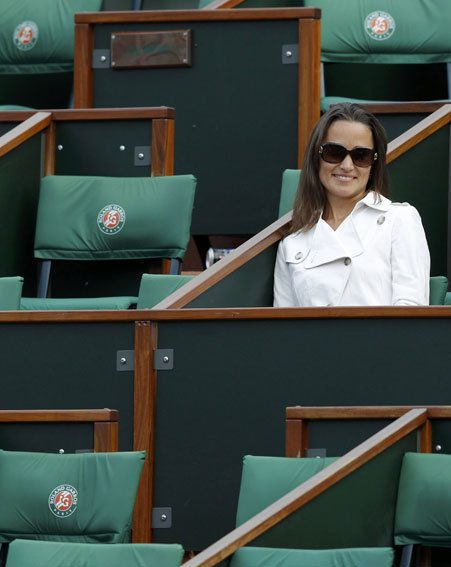Pippa Middleton looked heavenly as she sat alone at the tennis on Monday