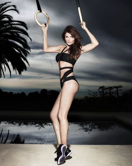 Helena Christensen shows off her amazing figure in the new Reebok campaign