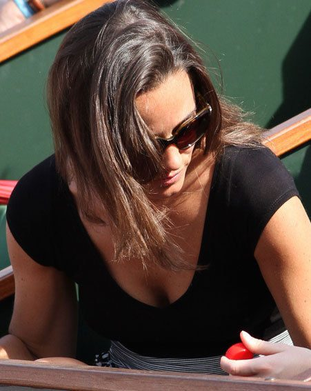 Pippa Middleton inadvertently revealed more than she intended at the French Open
