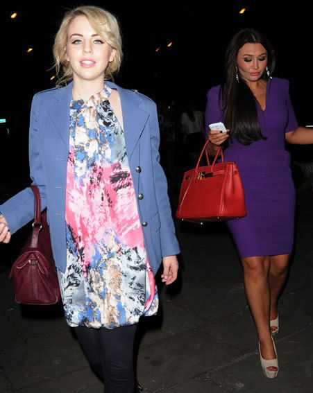 Lauren stayed close to Lydia Bright's side