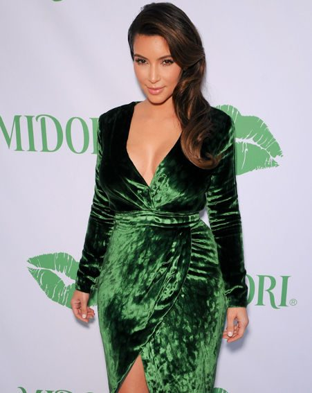 Kim Kardashian later showed off the results of her beauty regime at the Midori party