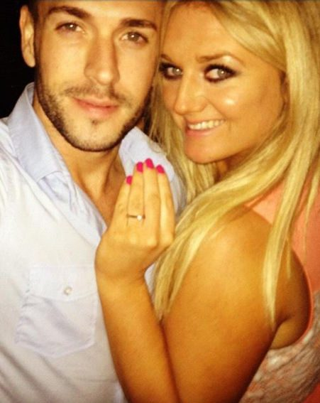 X Factor star Shayne Ward popped the question to Faye during a romantic dinner last night