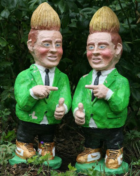 These Jedward Gnomes are winging their way now...