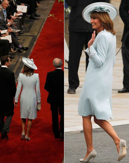 Carole Middleton decided on her Royal Wedding outfit at the last minute