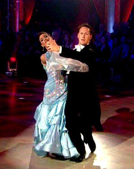 Lisa Snowdon and Brendan Cole won the dance-off to reach next week's final