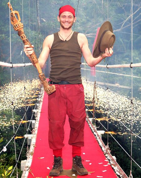 WINNER: Joe Swash won the jungle crown last night