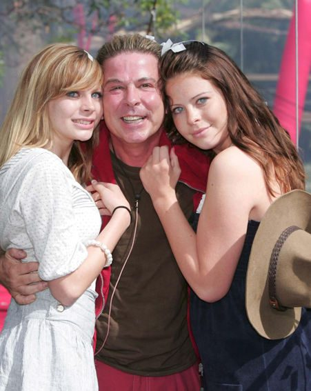 David was reunited with his daughters as he left the jungle