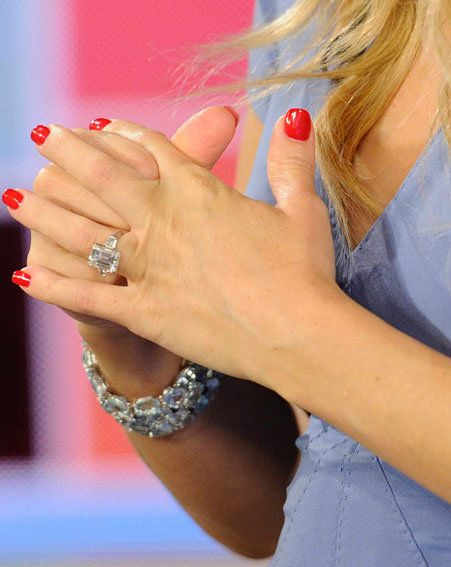 Kate Hudson flashed a massive piece of bling on the Today Show this morning