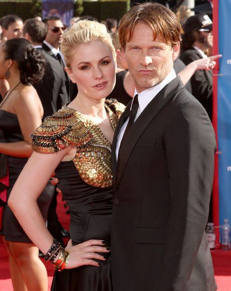 Emmys 2010: True Blood stars Anna Paquin and Stephen Moyer /wenn.com