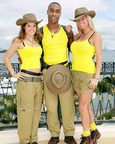 Carly with fellow contestants Simon Webb and Nicola McLean