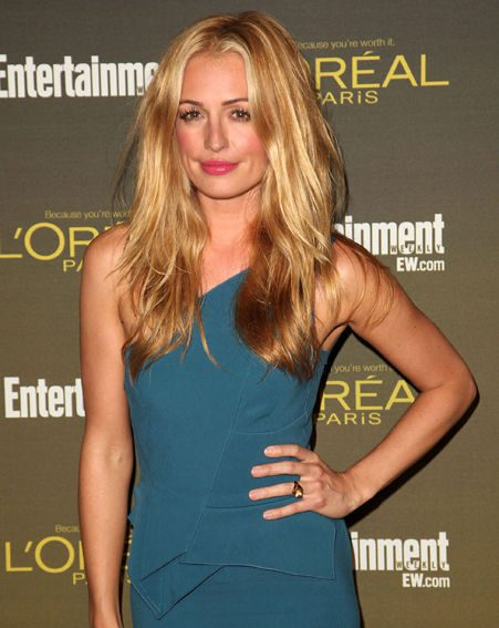 Cat Deeley looked stunning in her powder blue gown
