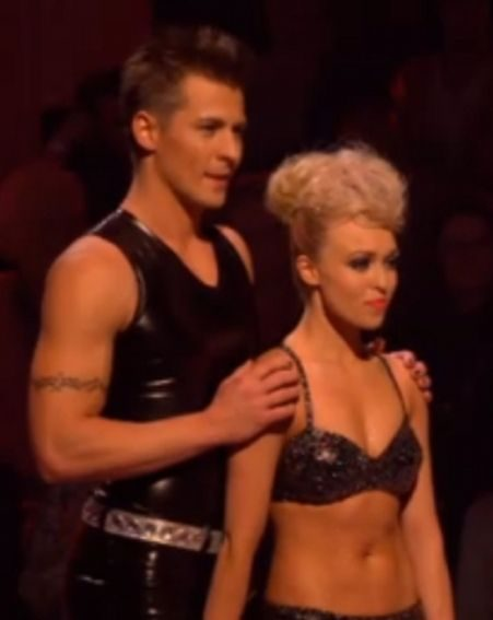 Jorgie Porter's latex rubber outfit caused a stir on Dancing On Ice