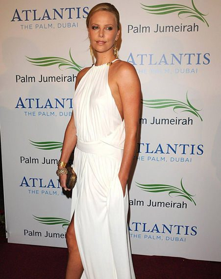 Charlize Theron looked stunning in a floor-length gown