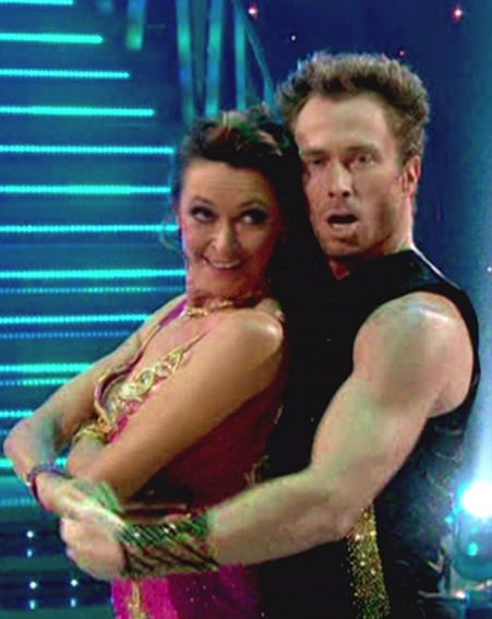 Cherie Lunghi and partner James Jordan were voted off the show last night