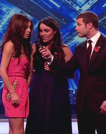 Cheryl was obviously angry during the results show