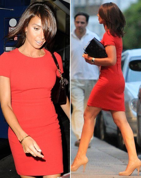 Christine Bleakley looked gorgeous in a red dress last night (Pics: wenn.com)