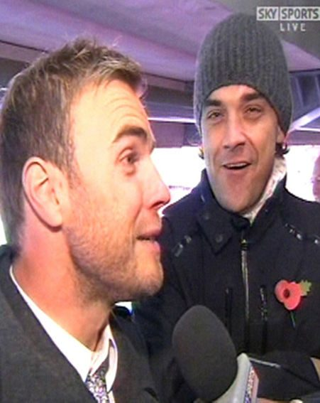 Gary Barlow and Robbie Williams, back together today
