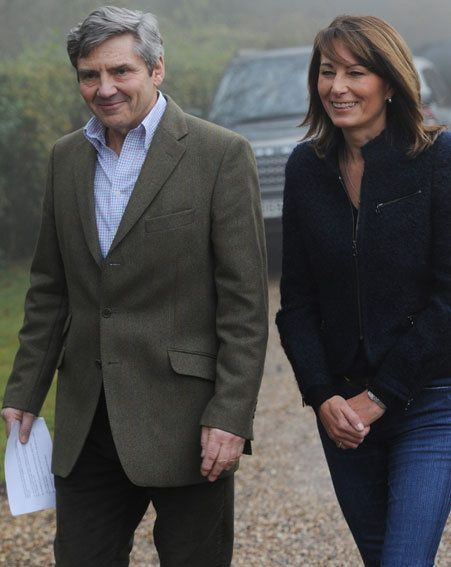 Michael and Carole Middleton had a Royal Wedding chat over lunch with The Queen