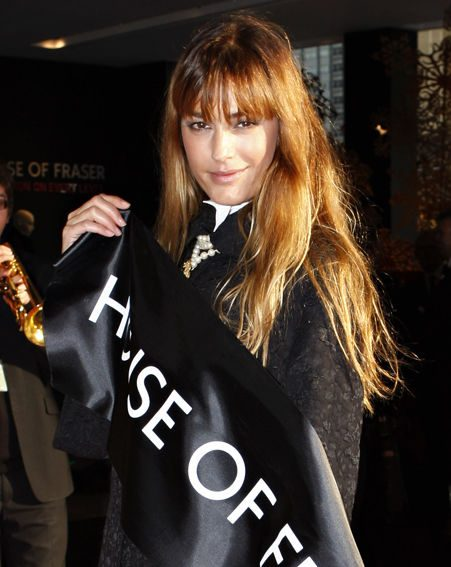 Yasmin Le Bon was there to cut the ribbon outside House Of Fraser