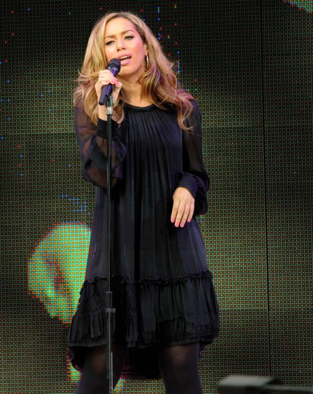 Leona Lewis performed five songs at the event