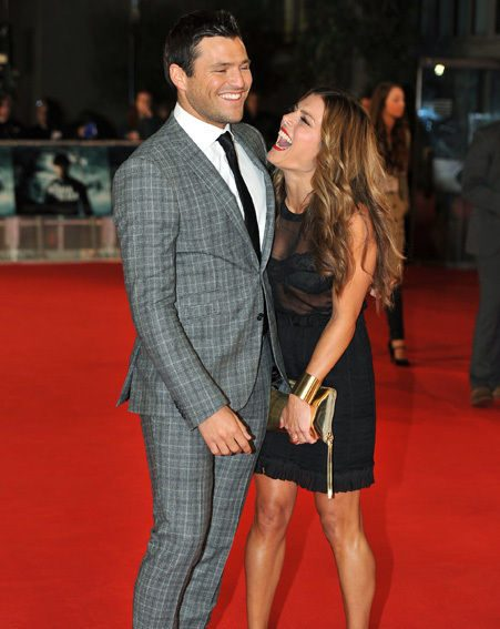 Mark and Zoe share a giggle on the red carpet
