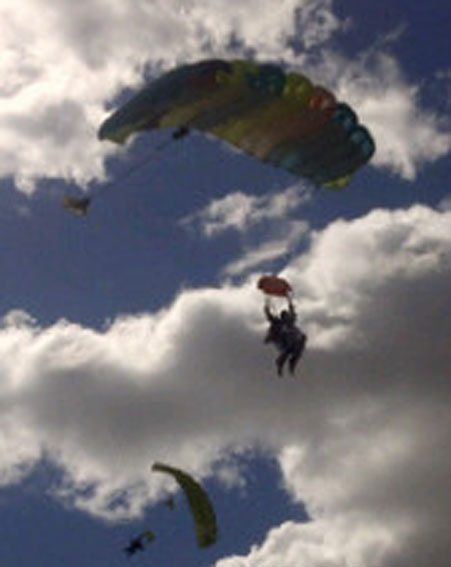 Katie Price and Leandro Penna have done a skydive in Argentina