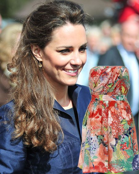 Kate Middleton went shopping for her holiday wardrobe in Warehouse