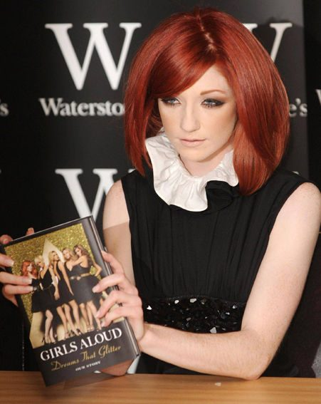 Girls Aloud singer Nicola Roberts looked Elizabethan in her ruffle collar