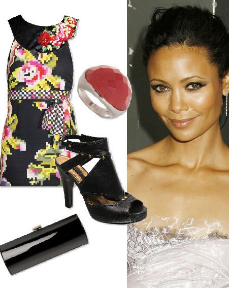 Thandie looked cute in her Matthew Williamson dress