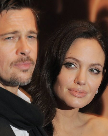 Angelina and Brad arrive for the premiere of Angelina's latest film