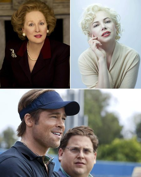 Oscars 2012: Meryl Streep, Michelle Williams and Brad Pitt are all nominated