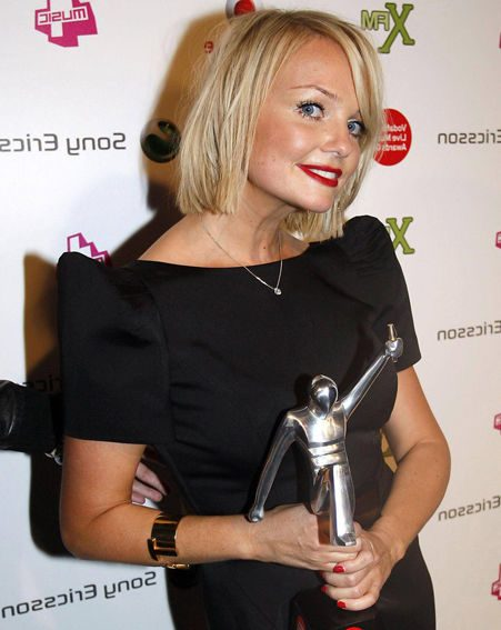 Emma was happy to pick up the award on behalf of the rest of the Spice Girls