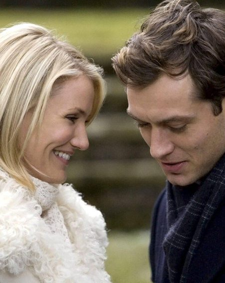 Cameron Diaz with Jude Law in The Holiday