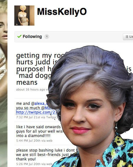 Kelly Osbourne has come to Luke Worrall's defence on Twitter