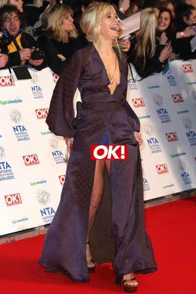 Rachel Wilde hysterically laughed off the fact her bright blue knickers were on display