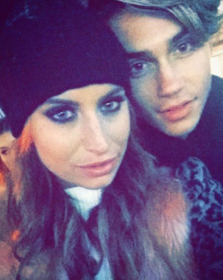 George Shelley has confirmed he and Ferne McCann have shared their first kiss