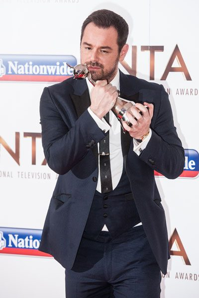 Danny Dyer was very happy with his award