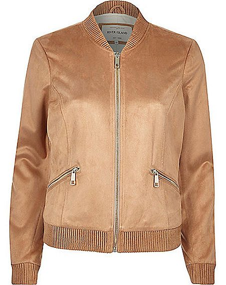 River Island have put suede and bomber together for this statement piece