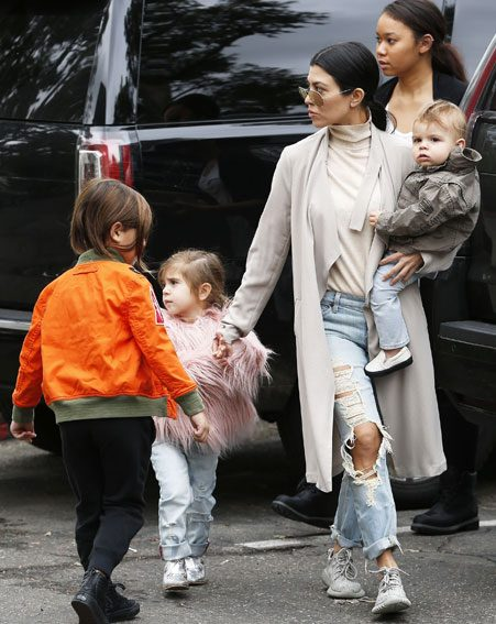 Kourtney Kardashian is focusing on her children for now