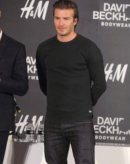 David Beckham was in Shanghai for H&M (GETTY)