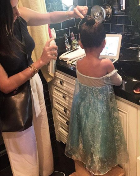 North West is too much backstage at the Frozen play