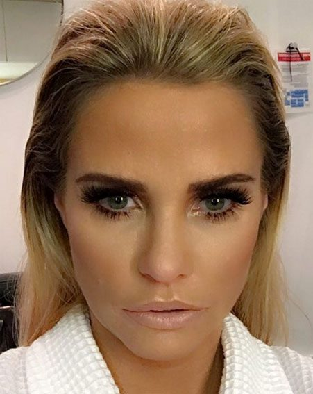 Katie Price opted for the bold Shaded brow when she had her treatment