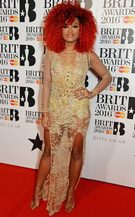 Fleur East can totally rock bright red
